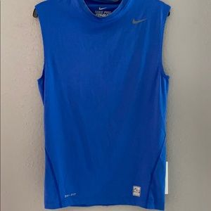 Men's Nike Dri-Fit Compression Tank - Royal Blue